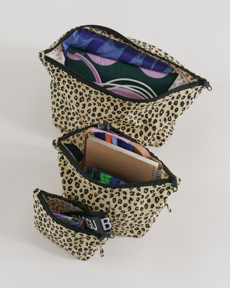 Go Pouch Set – Honey Leopard