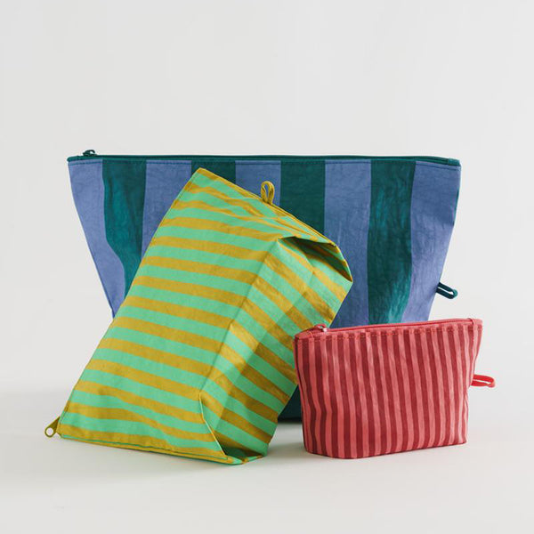 Go Pouch Set – Afternoon Stripes