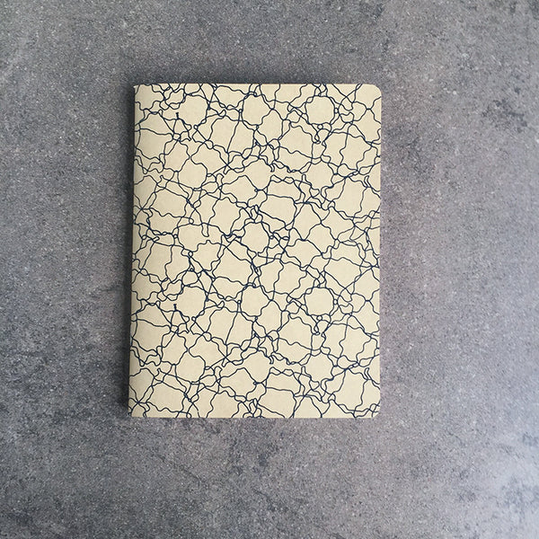 Tiny Thoughts Screen-Printed Noodles Notebook