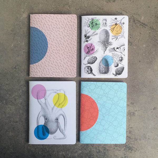 TINY THOUGHTS SET OF FOUR NOTEBOOKS