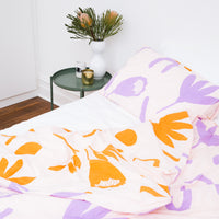 Floral Dreams Pillowcases – Lilac and Mustard