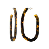 Margot Hoops In Tortoise