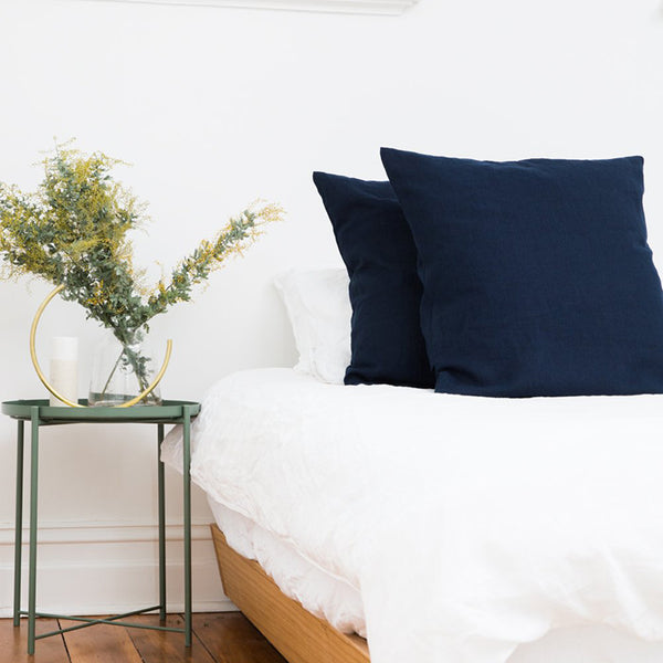 Linen Euro Pillowcase - Ink