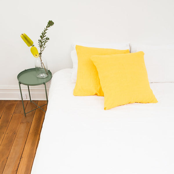 Linen Euro Pillowcase - Sunflower