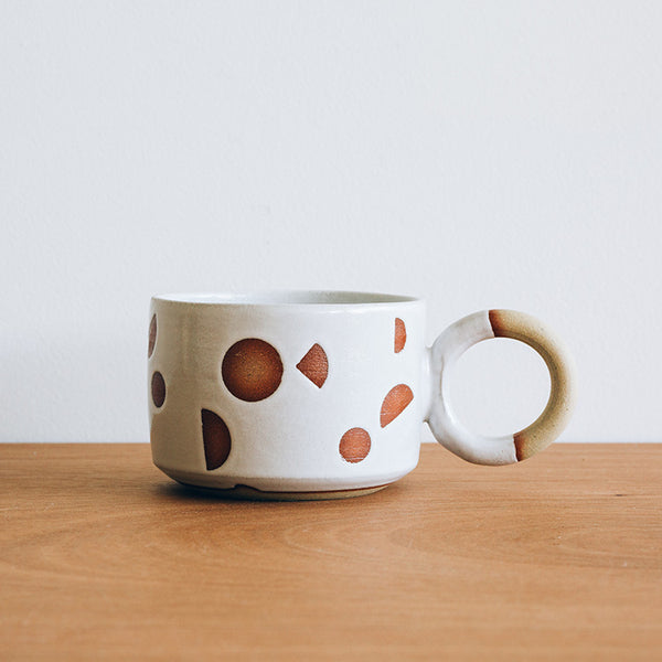 """Shape up"" White ""O"" Mug"