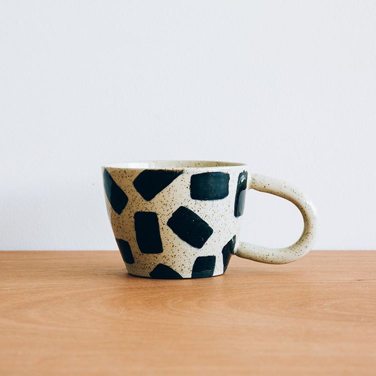 "Black Rectangle ""V"" Mug"