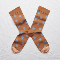 Caramel Polka Dot Socks