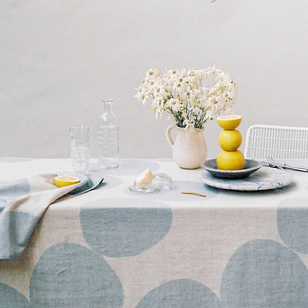 Pebble Tablecloth – Blue