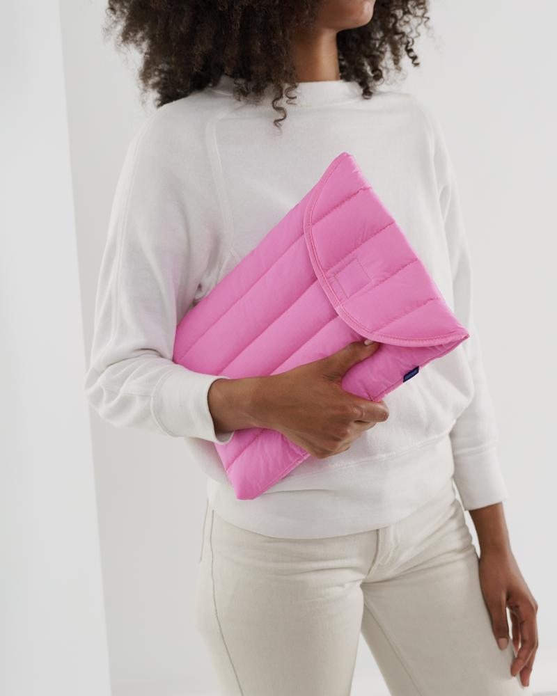"Puffy Laptop Sleeve 13"" – Bright Pink"