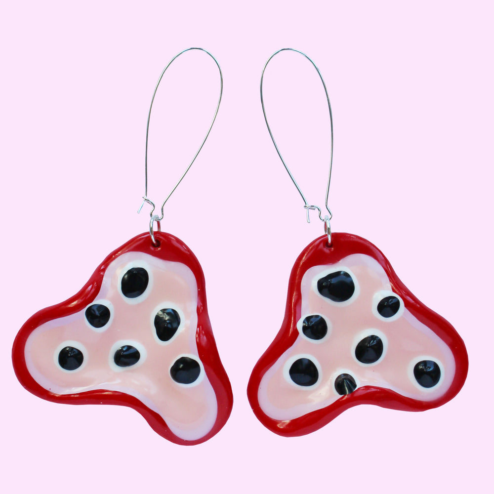 Fritter Earrings - 4eva Reds