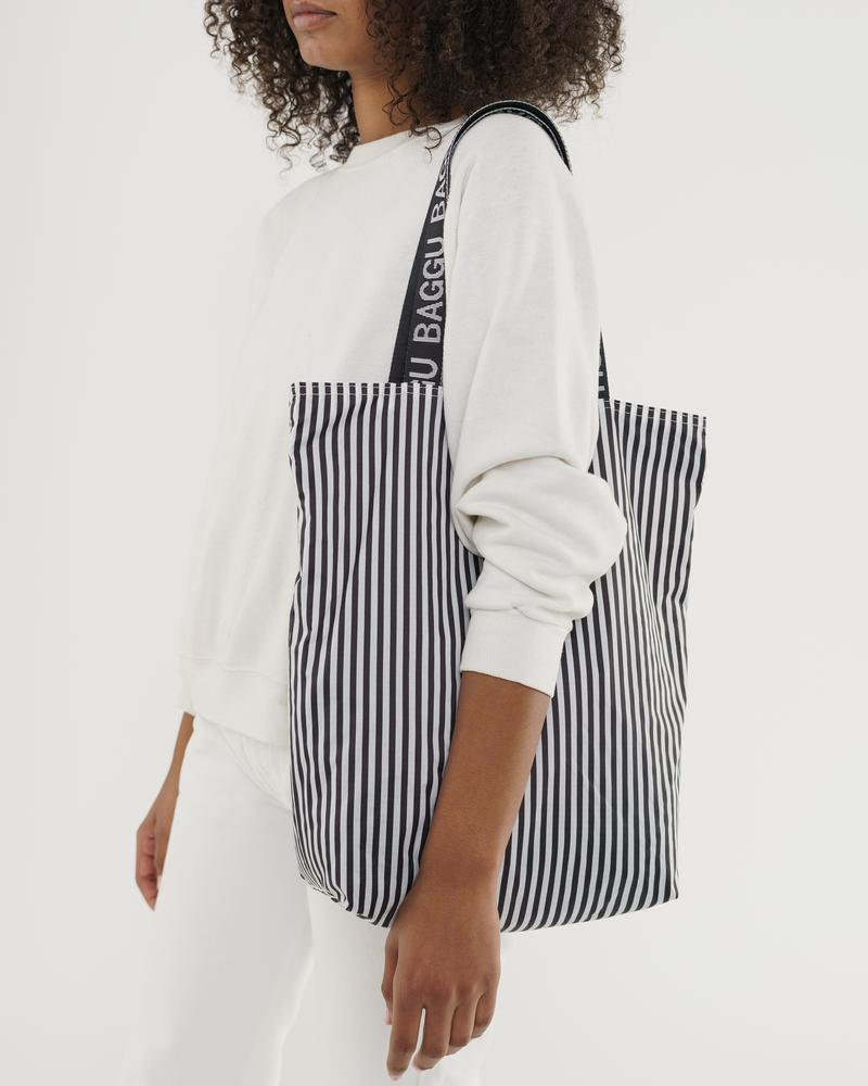 Ripstop Tote – Black and White Stripe