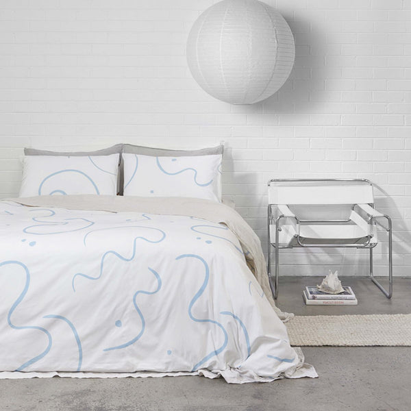 Salento Duvet Set – Blue and Clay