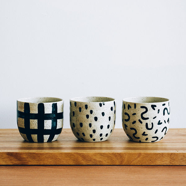 Black Patterned Cup