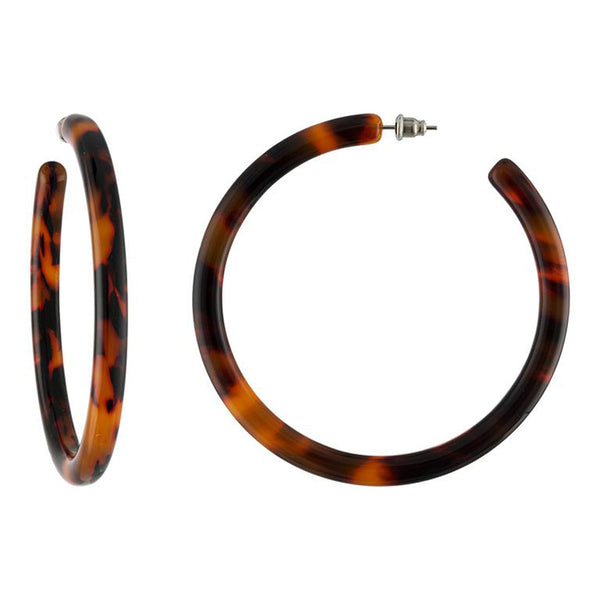 XL Hoops In Rouge Tortoise