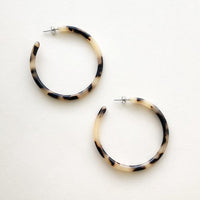 Large Hoops In Blonde Tortoise