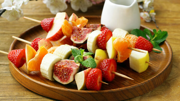 Colorful Fruit Kebabs