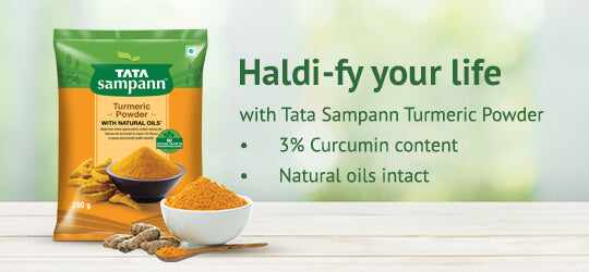 Your road to Haldi Living with Tata Sampann Turmeric Powder
