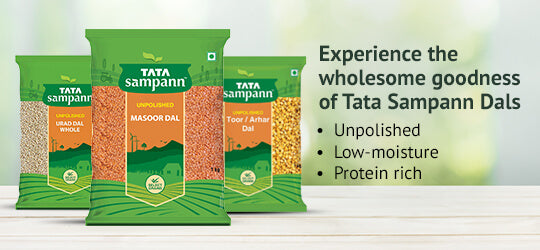 Ensure nutritional goodness with Tata Sampann Dals