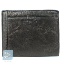 Load image into Gallery viewer, Fossil Men's Leather Wallet Black ML3899001