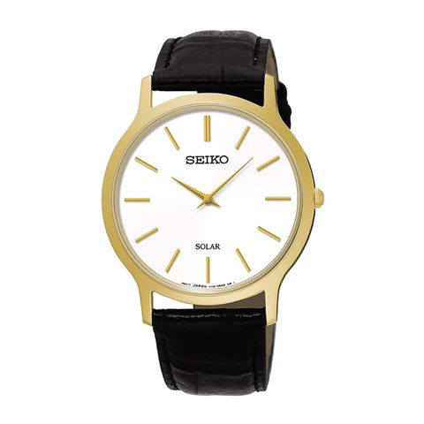 Seiko Solar Black Calf Leather Strap Watch SUP872P1 | Watchspree