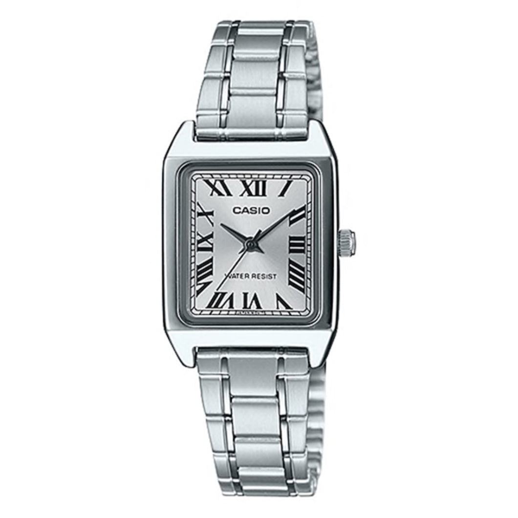 Casio Ladies' Standard Analog Silver Stainless Steel Band Watch LTPV007D-7B LTP-V007D-7B