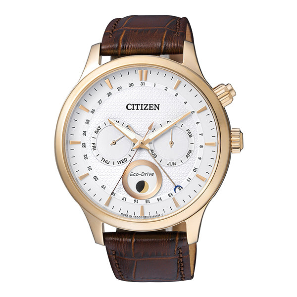 Citizen Eco-Drive Chronograph Brown Leather Strap Watch AP1052-00A