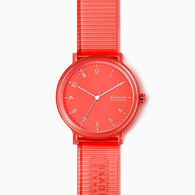 Skagen Men's Aaren Transparent Three-Hand Coral 41mm Watch SKW6603