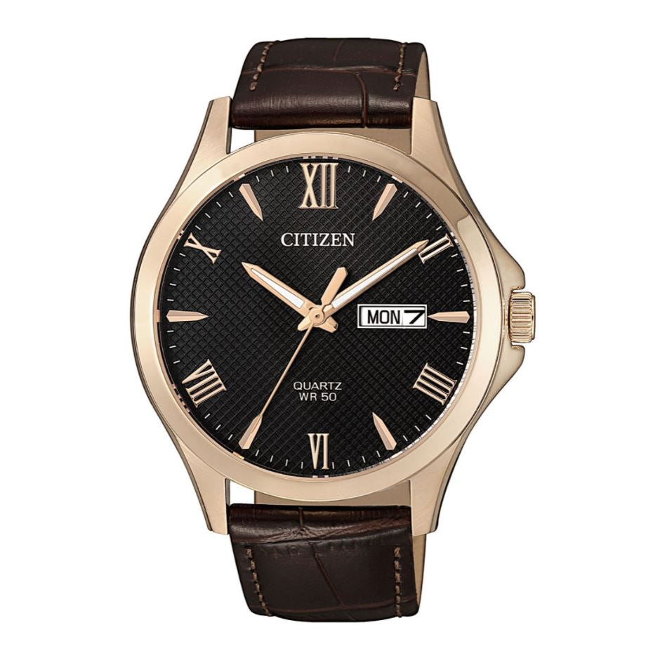 Citizen Men's Quartz Brown Leather Watch BF2023-01H
