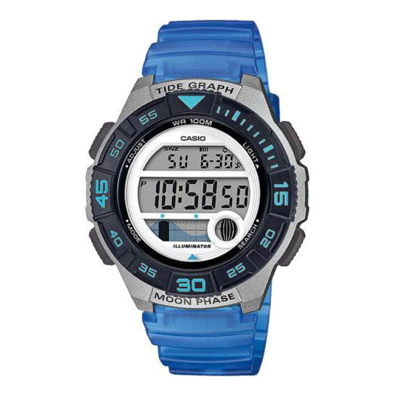 Casio Ladies' Sports Blue Resin Band Watch LWS1100H-2A LWS-1100H-2A | Watchspree