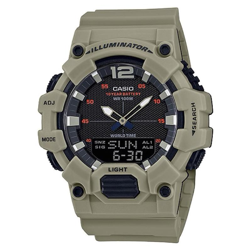 Casio Men's Analog-Digital Combination Green Resin Band Watch HDC700-3A3 HDC-700-3A3 | Watchspree