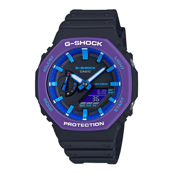 Casio G-Shock Carbon Core Guard Structure Special Colour Black Resin Band Watch GA2100THS-1A GA-2100THS-1A