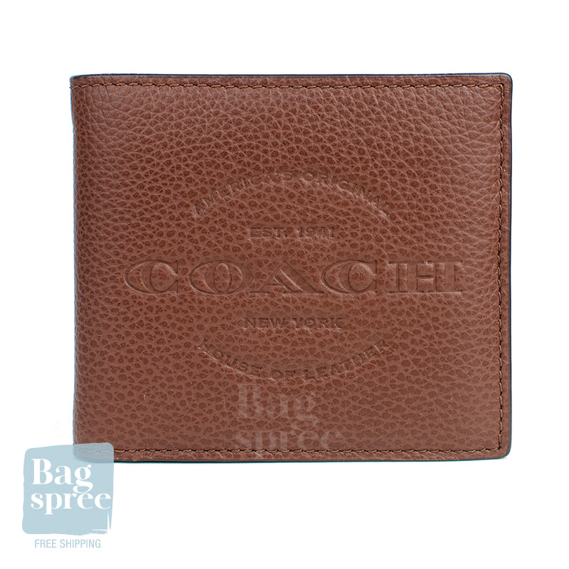 Coach Double Billfold Wallet Brown F24647 QBDBR