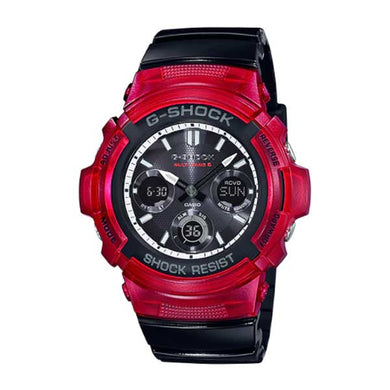 Casio G-Shock Analog-Digital Tough Solar MULTIBAND6 Black Resin Band Watch AWGM100SRB-4A AWG-M100SRB-4A