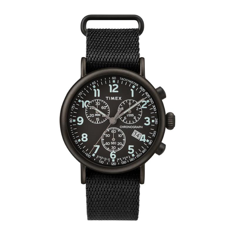 Timex Men's Standard Chronograph 41mm Fabric Strap Watch TW2T21200