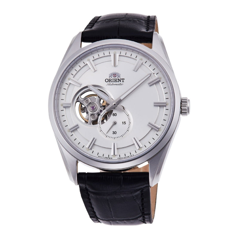 Orient Men's Open Heart Automatic Black Leather Strap Watch RA-AR0004S10B  | Watchspree