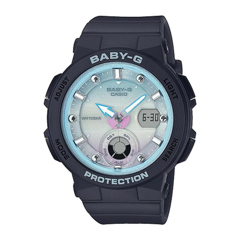 Casio Baby-G Beach Traveler Series Black Resin Band Watch BGA250-1A2 BGA-250-1A2 | Watchspree
