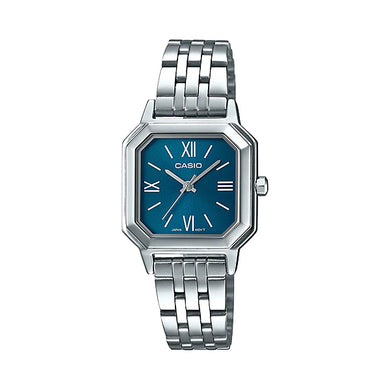Casio Ladies' Analog Stainless Steel Band Watch LTPE169D-2B LTP-E169D-2B