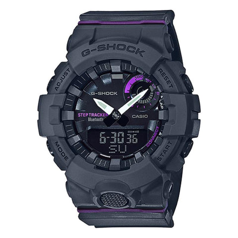 Casio G-Shock S Series G-Squad Bluetooth¨ Grey Resin Band Watch GMAB800-8A GMA-B800-8A
