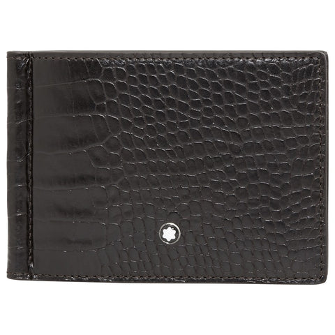 MontBlanc Meisterstuck Mocha Leather Men's 6cc Wallet with Money Clip 112561