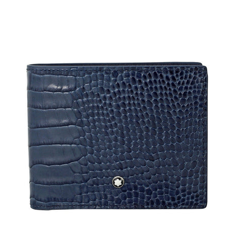 Montblanc Meisterstuck Indigo Embossed Leather Wallet 114447