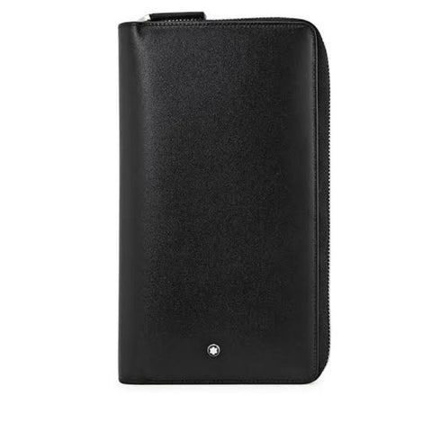 Montblanc Meisterstuck Black Leather Travel 16CC Wallet 114534