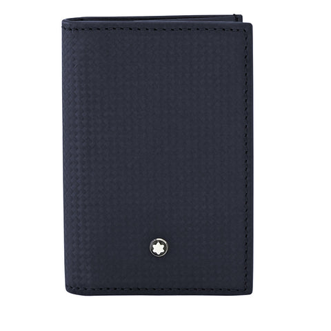 MontBlanc Extreme Leather Business Card Holder - Blue 116366