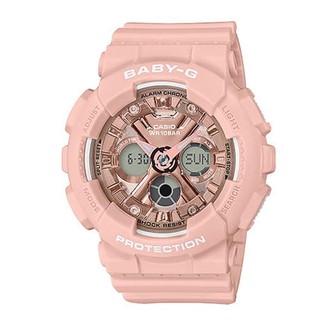 Casio Baby-G Standard Analog-Digital BA-130 Series Pink Resin Band Watch BA130-4A BA-130-4A | Watchspree