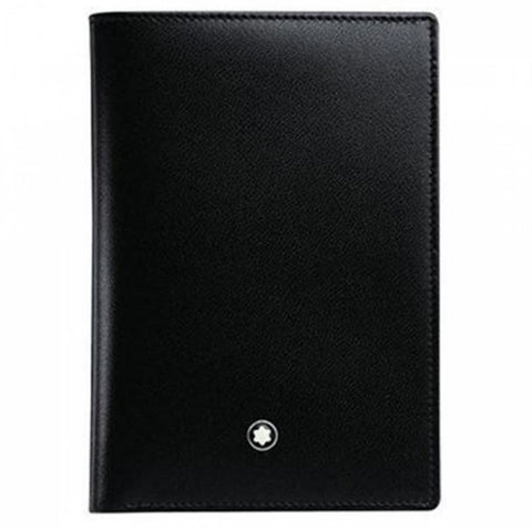MontBlanc Meisterstuck  Black Leather 7CC Vertical Wallet 14094