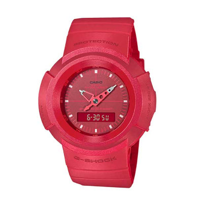 Casio G-Shock Analog-Digital Classic AW-500 Series Red Resin Strap Watch AW500BB-4E AW-500BB-4E
