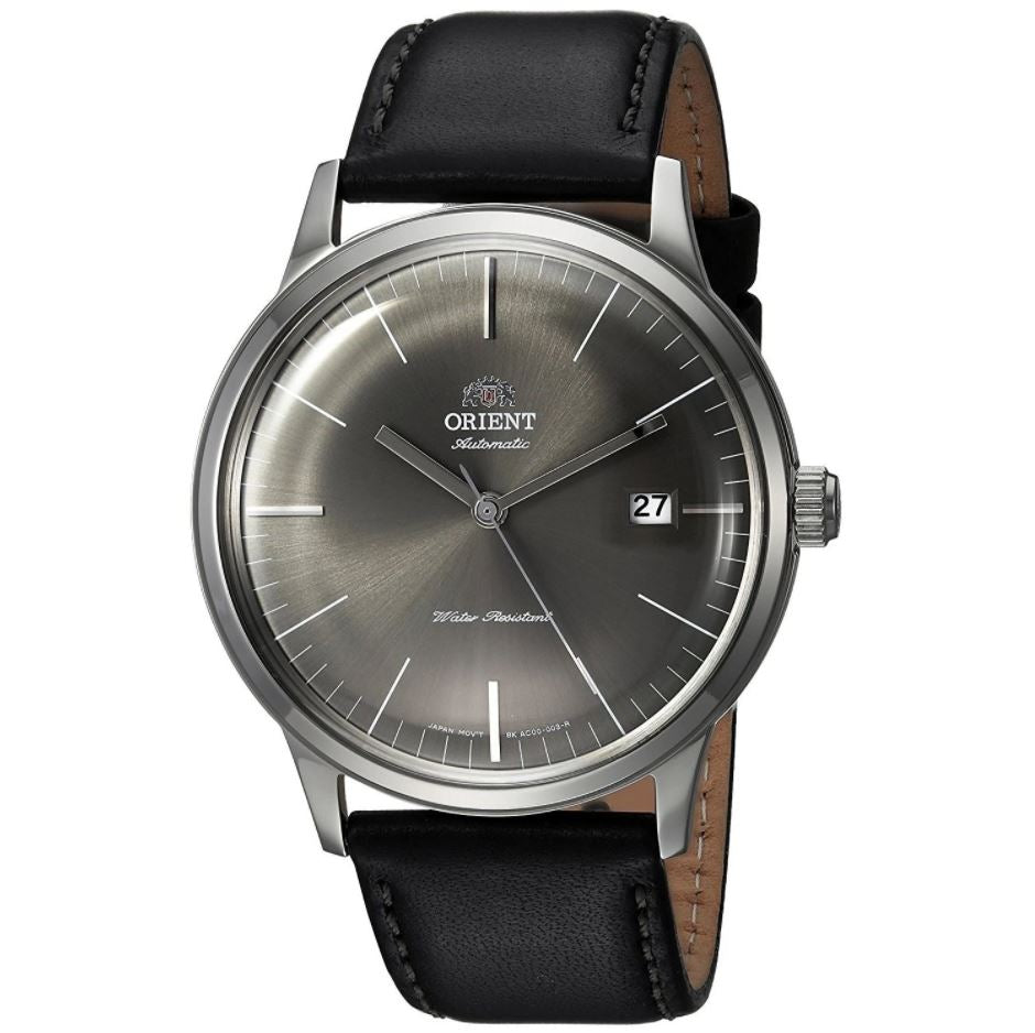 Orient Men's 2nd Generation Bambino Automatic Black Leather Strap Watch FAC0000CA0  | Watchspree