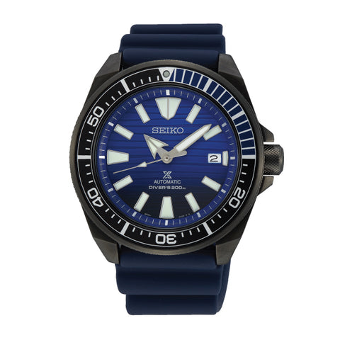Seiko Prospex Air Diver's Sea Series Automatic Special Edition Navy Blue Silicone Strap Watch SRPD09K1