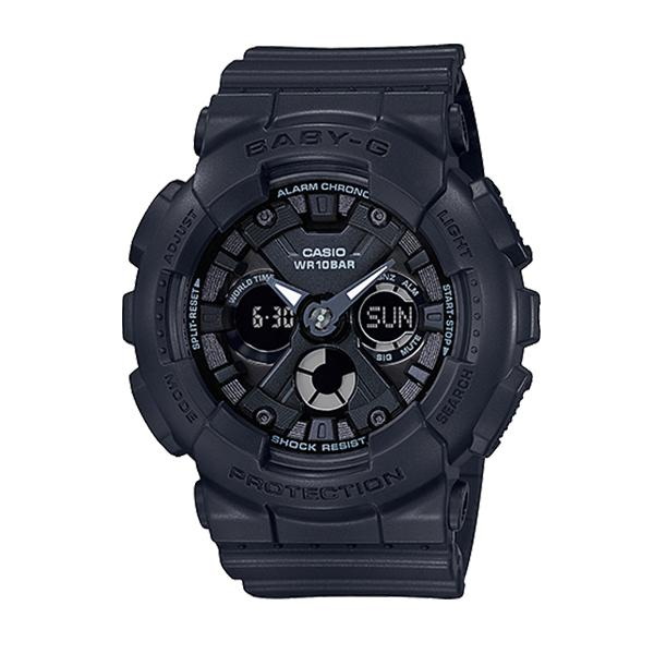 Casio Baby-G Standard Analog-Digital BA-130 Series Black Resin Band Watch BA130-1A BA-130-1A | Watchspree