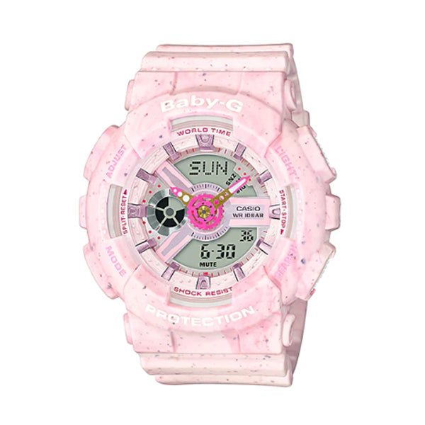 Casio Baby-G BA110 Series Pop Design Models in Pastel Colours Pink Resin Band Watch BA110PI-4A BA-110PI-4A