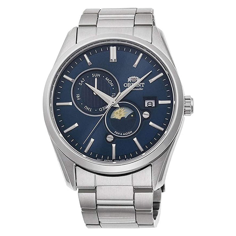 Orient Men's Sun & Moon Automatic Stainless Steel Band Watch RA-AK0303L10B  | Watchspree